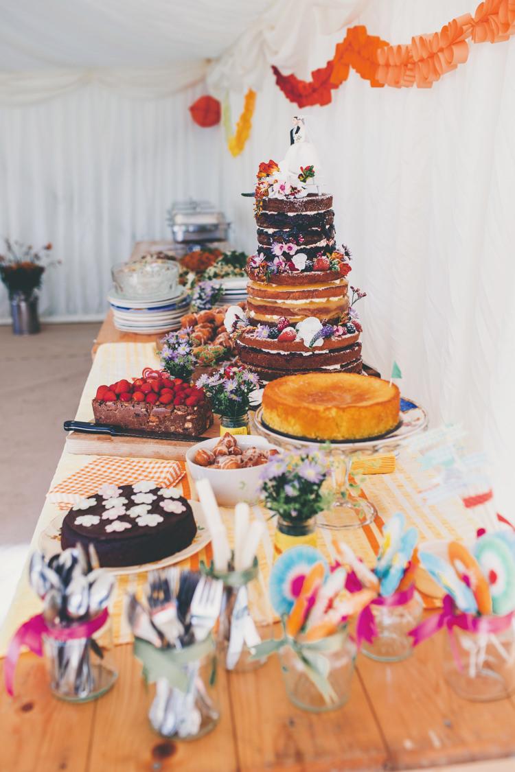 Cake Dessert Table Bright Retro Vintage Sea Wedding http://www.larissajoice.co.uk/