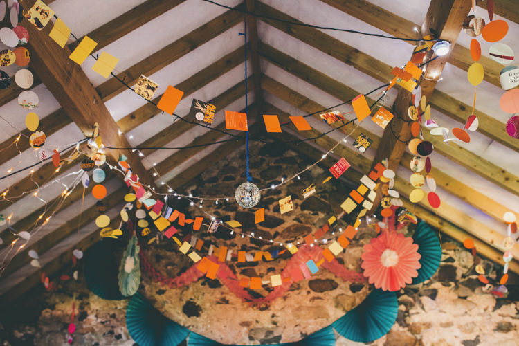Garlands Orange Yellow Fairy Lights Decor Bright Retro Vintage Sea Wedding http://www.larissajoice.co.uk/