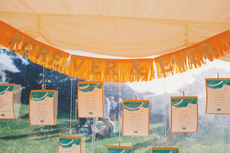Seating Plan Table Chart Tassel Sign Banner Hanging Bright Retro Vintage Sea Wedding http://www.larissajoice.co.uk/