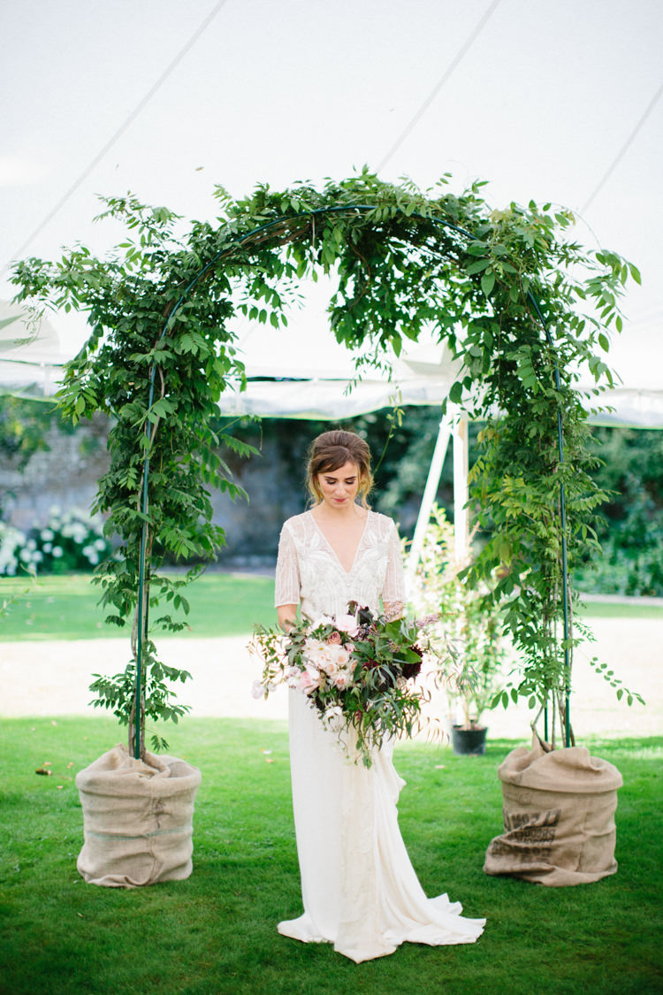 Foliage Arch Backdrop Arbour Wild Romance Greenery Wedding Ideas http://www.melissabeattie.com/
