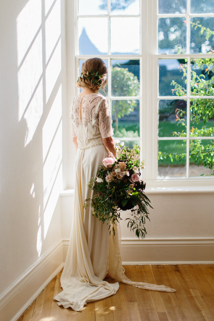 Temperley London Dress Bride Bridal Gown Elegant Wild Romance Greenery Wedding Ideas http://www.melissabeattie.com/