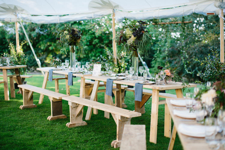 Marquee Tent Open Decor Rustic Tables Wild Romance Greenery Wedding Ideas http://www.melissabeattie.com/