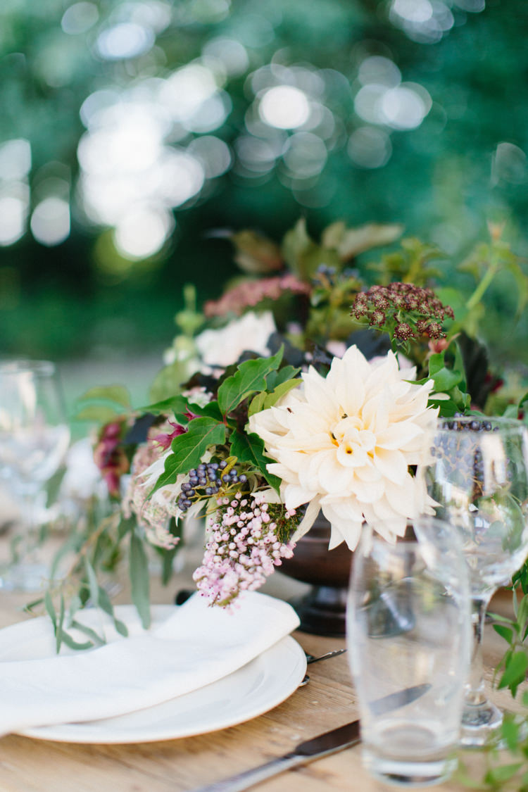 Table Flowers Blush Cream Whimsical Organic Centrepiece Wild Romance Greenery Wedding Ideas http://www.melissabeattie.com/