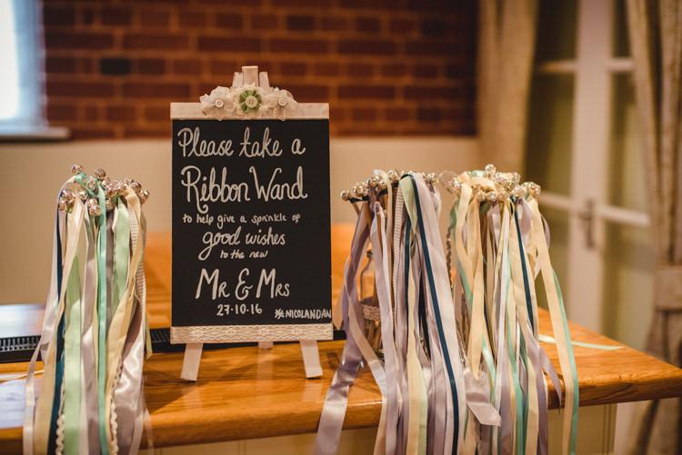 Ribbon Wand Confetti Alternative Crafty Rustic Farm Barn Wedding http://www.sophieduckworthphotography.com/