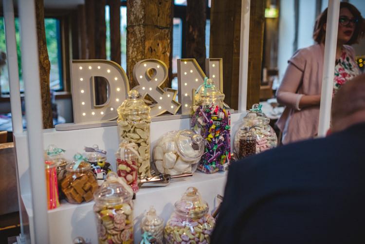 Sweet Cart Display Light Up Letters Crafty Rustic Farm Barn Wedding http://www.sophieduckworthphotography.com/