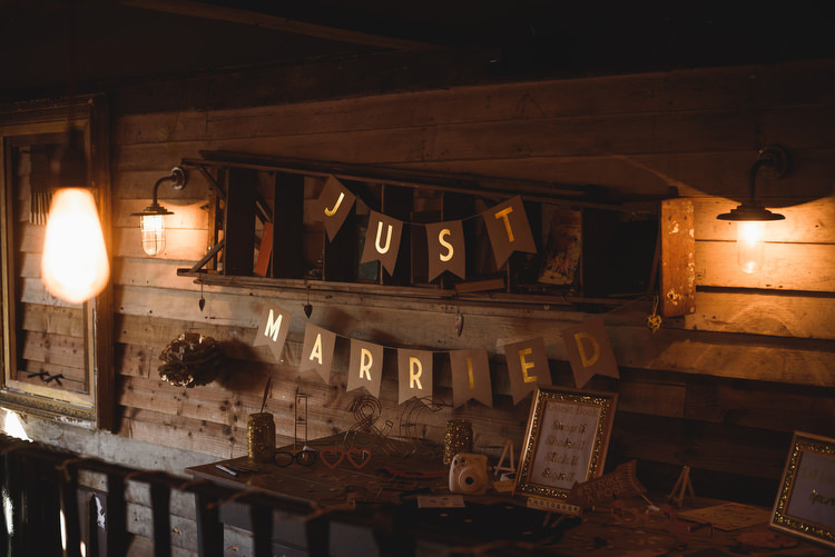 Just Married Bunting Quirky Vintage Glamour Wedding https://www.jacksonandcophotography.com/