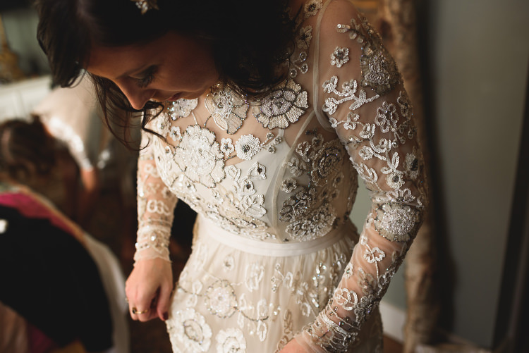 Needle and Thread Beaded Sequin Dress Gown Long Sleeves Bride Bridal Quirky Vintage Glamour Wedding https://www.jacksonandcophotography.com/