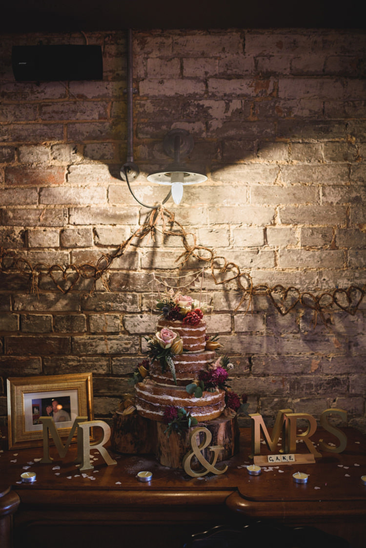 Naked Cake Table Rustic Decor Quirky Vintage Glamour Wedding https://www.jacksonandcophotography.com/