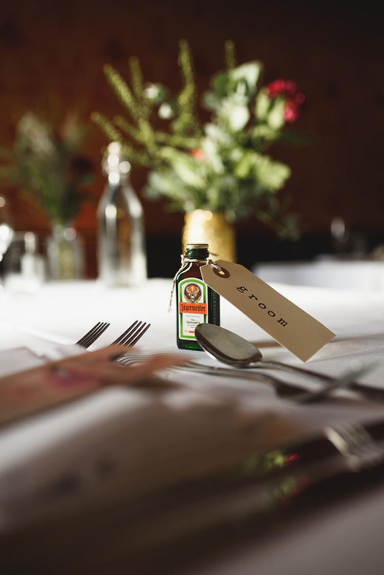 Mini Drink Bottle Favours Quirky Vintage Glamour Wedding https://www.jacksonandcophotography.com/