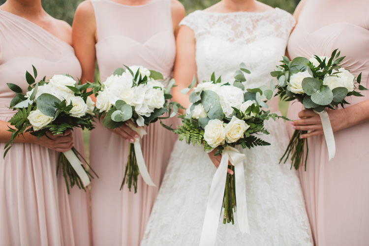 Blush Bridesmaids Justin Alexander Bridal Beautiful Tuscan Villa Destination Wedding http://www.francessales.co.uk/