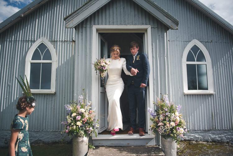 Tin Church Wales Colourful Country Farm Marquee Wedding http://www.hannahmilesphotography.com/