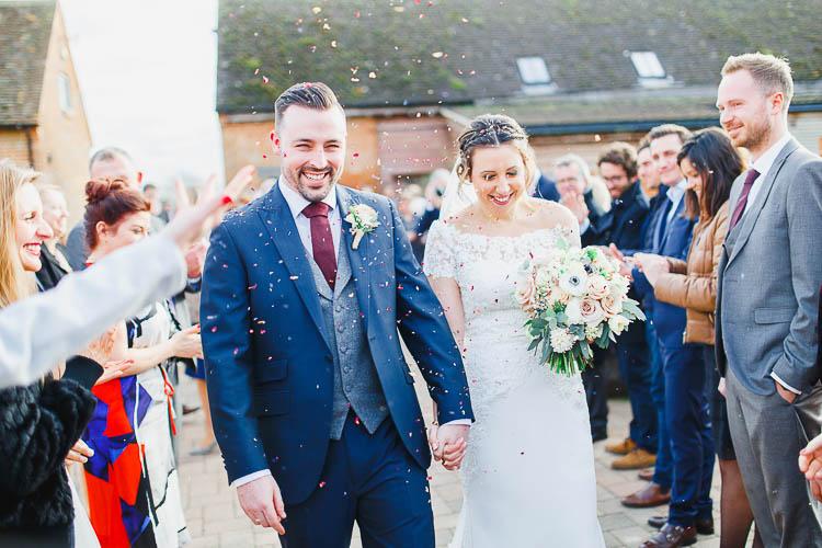 Confetti Throw Beautiful Rustic Fairy Lights Barn Wedding http://whitestagweddings.com/