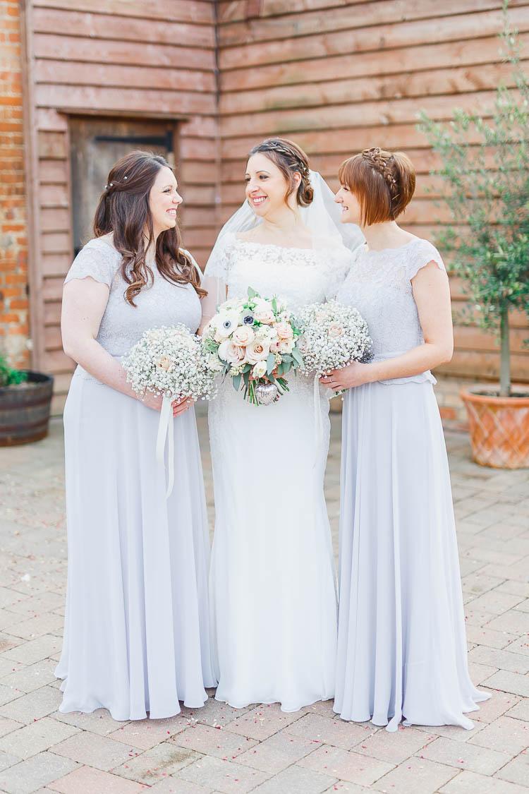 Long Lila Grey Bridesmaid Dresses Beautiful Rustic Fairy Lights Barn Wedding http://whitestagweddings.com/