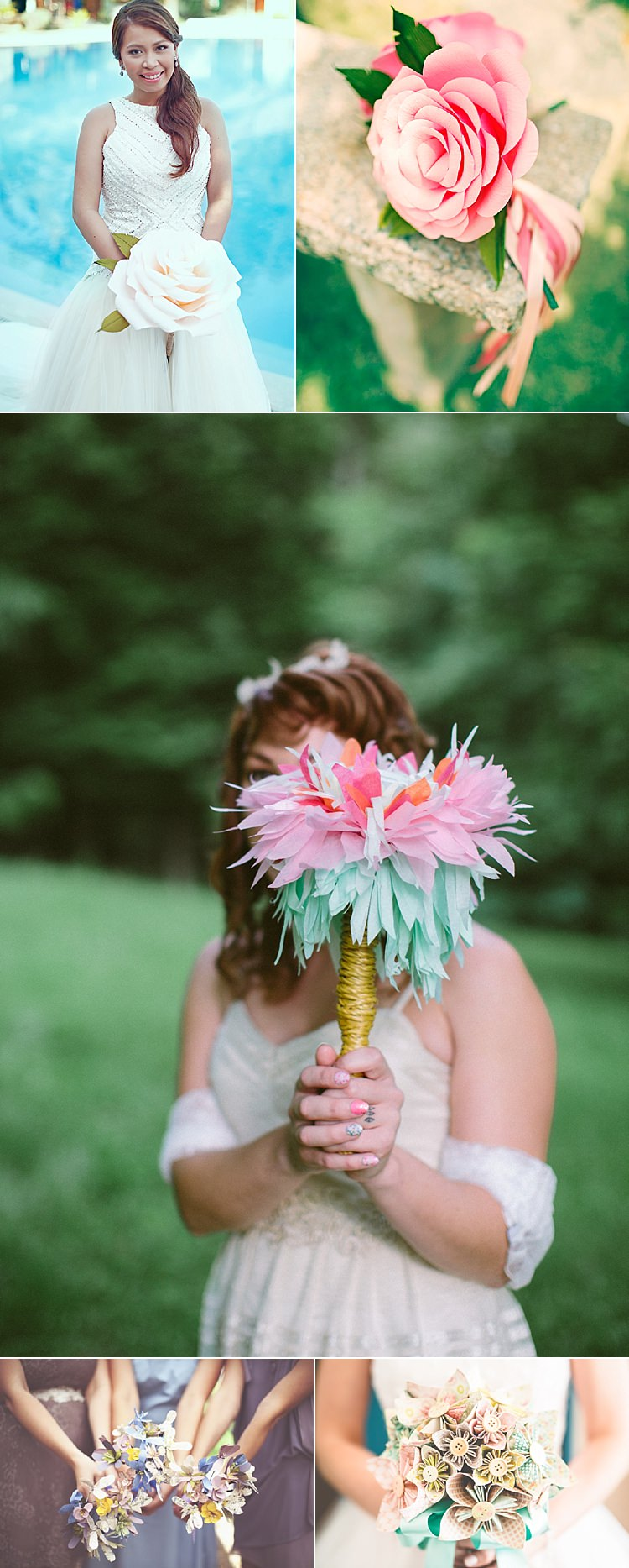 Alternative Wedding Flower Ideas Paper Bouquet