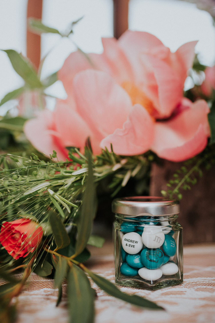 Favours Sweets Jars Decor Stylish Hand Made Rainy Summer Barn Wedding http://www.kategrayphotography.com/