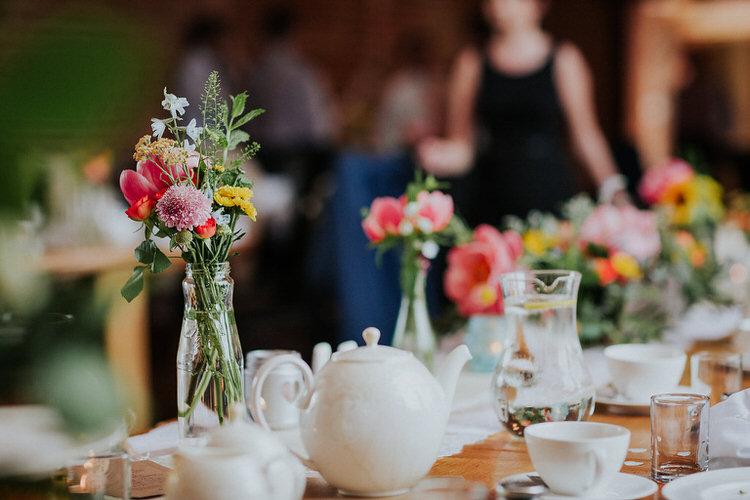 Decor Flowers Table Stylish Hand Made Rainy Summer Barn Wedding http://www.kategrayphotography.com/
