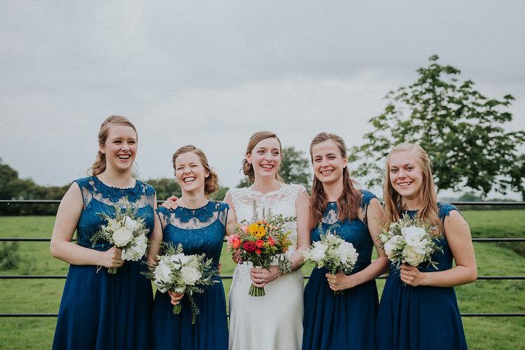 Navy Blue Coast Bridesmaid Dresses Stylish Hand Made Rainy Summer Barn Wedding http://www.kategrayphotography.com/
