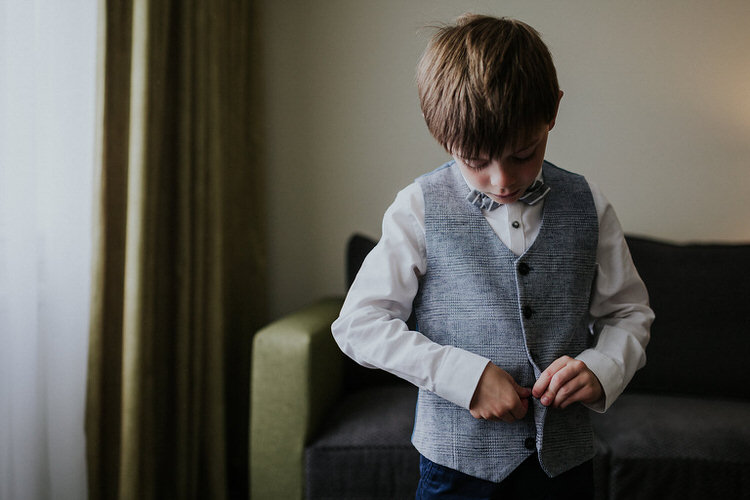 Page Boy Waistcoat Bow Tie  Hand Made Rainy Summer Barn Wedding http://www.kategrayphotography.com/