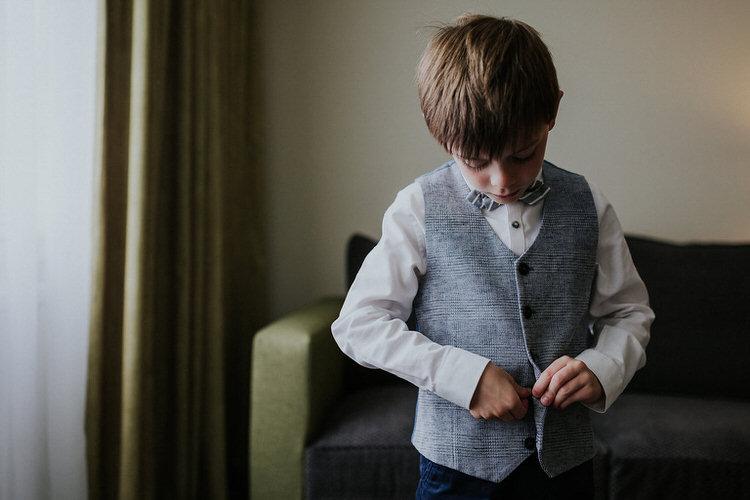 Page Boy Waistcoat Bow Tie  Hand Made Rainy Summer Barn Wedding http://www.kategrayphotography.com/