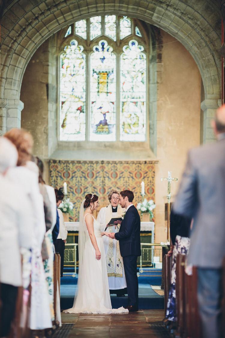 Church Hugo Boss Groom Bespoke Bride Blush Navy DIY Tipi Wedding Home http://www.kategrayphotography.com/