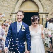Blush & Navy DIY Tipi Wedding at Home