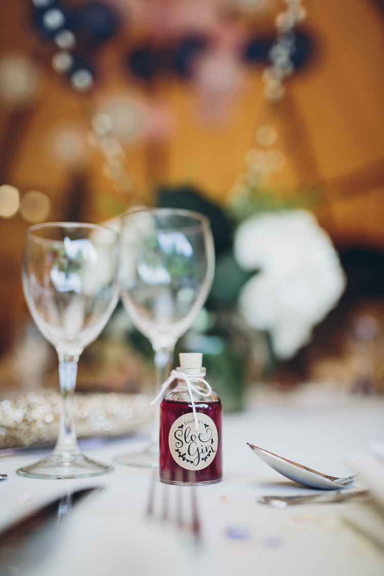 Favours Sloe Gin Blush Navy DIY Tipi Wedding Home http://www.kategrayphotography.com/