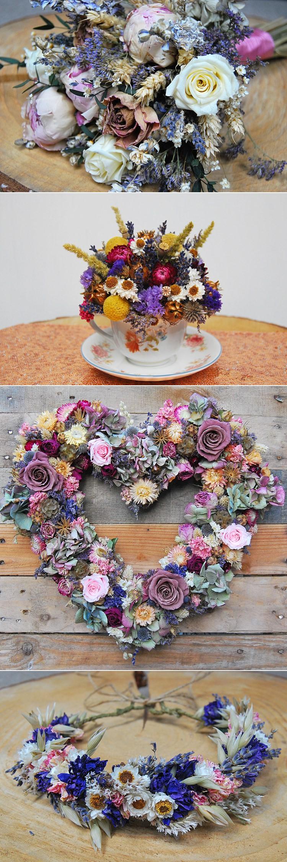 Alternative Wedding Flower Ideas Dried Lotus Floral Art