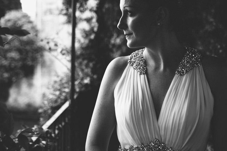 Bride V Neck Jenny Packham Embellished Bridal Gown Botanical Copper Greenery Lake Como Wedding http://margheritacalatiphotography.com/