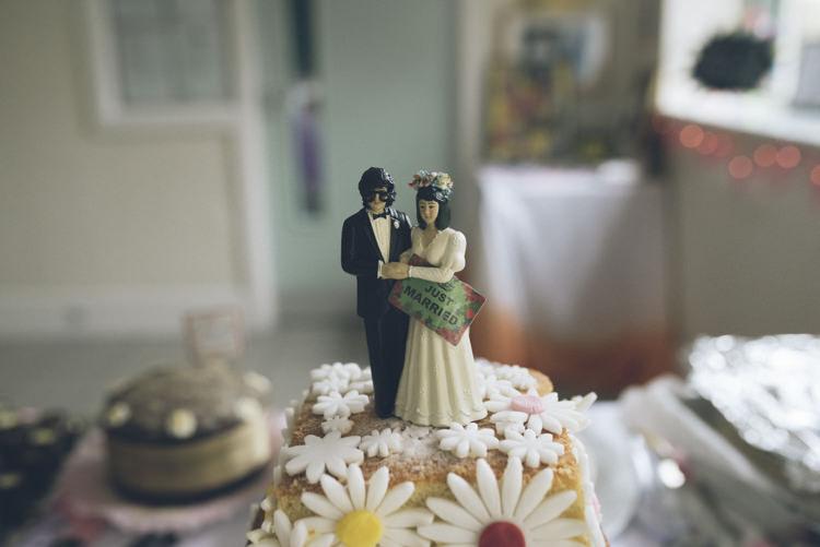 Cake Topper Alternative Creative Budget Wedding http://www.petecranston.com/