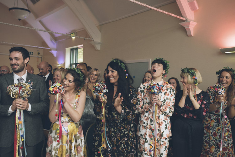 Floral Bridesmaids Button Bouquets Alternative Creative Budget Wedding http://www.petecranston.com/