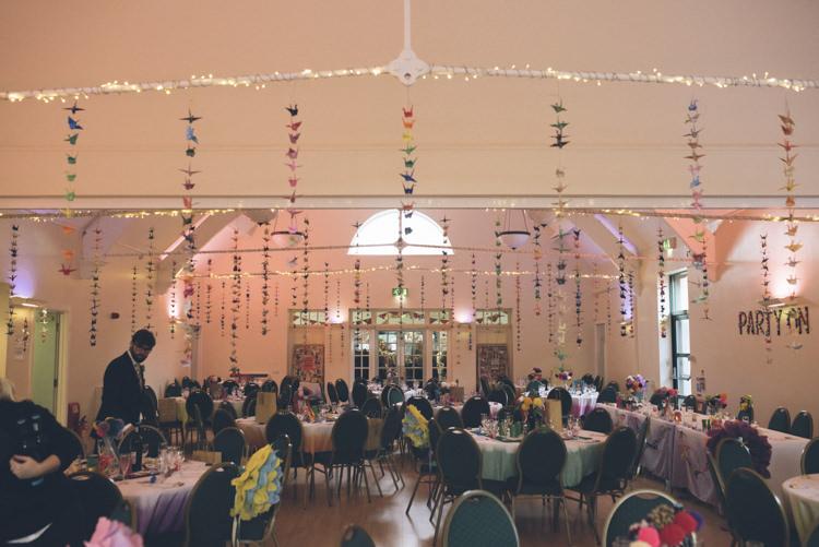 Paper Cranes Village Hall Alternative Creative Budget Wedding http://www.petecranston.com/