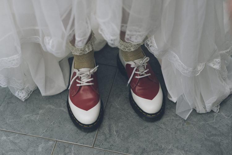 Doc Marten Shoes Bride Bridal Alternative Creative Budget Wedding http://www.petecranston.com/