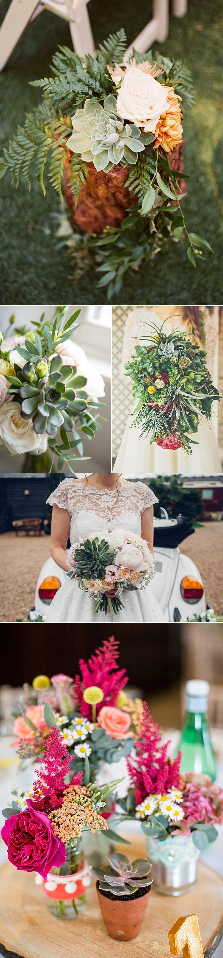 Alternative Wedding Flower Ideas Bouquet Succulents