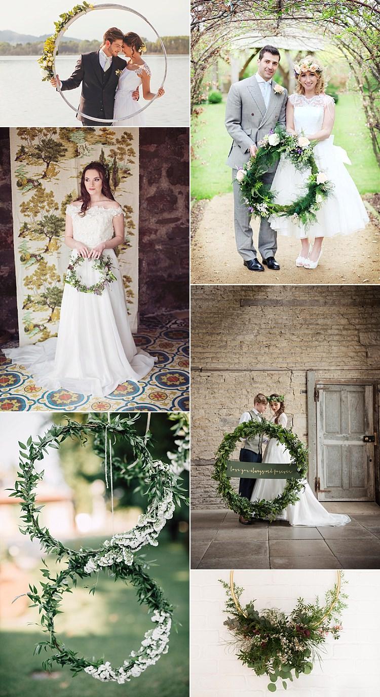 Alternative Wedding Flower Ideas Hoop Wreath
