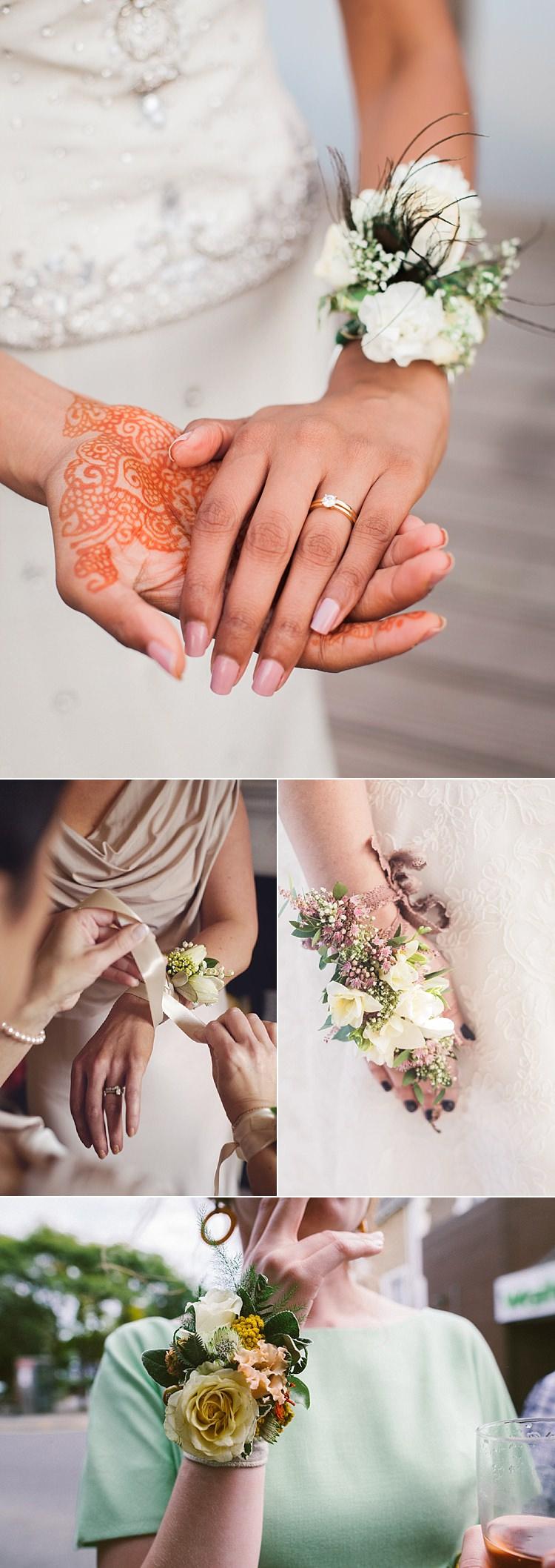 Alternative Wedding Flower Ideas Wrist Corsage