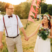 Informal Camp Woodland Wedding