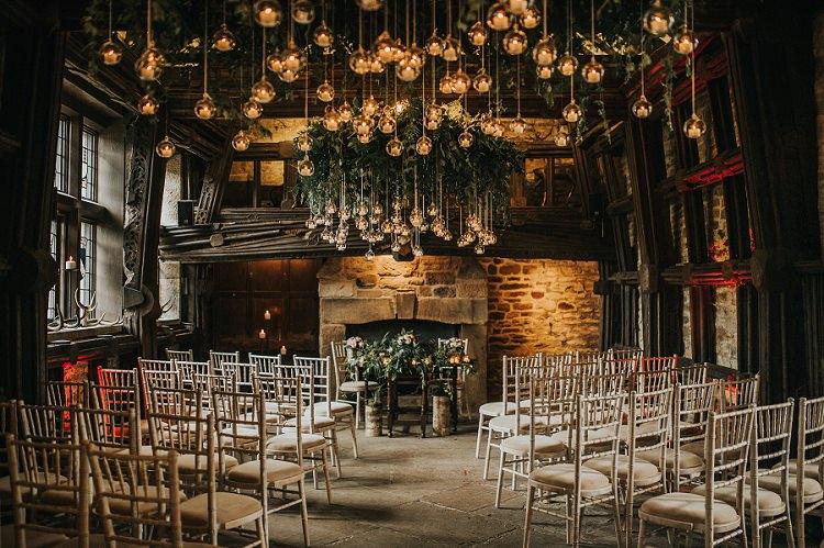 Hanging Bauble Tea Lights Installation Ceremony Lighting Romantic Enchanting Woodland Boho Wedding http://www.kerrydiamondphotography.com/