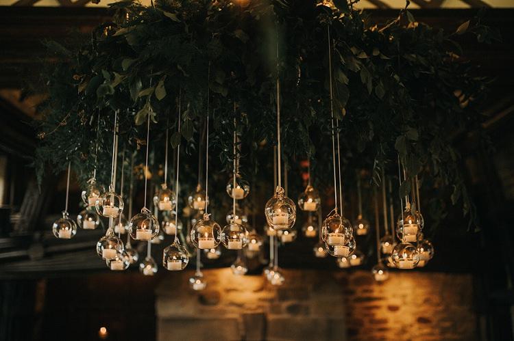Hanging Tea Light Baubles Decor Candles Lighting Enchanting Woodland Boho Wedding http://www.kerrydiamondphotography.com/