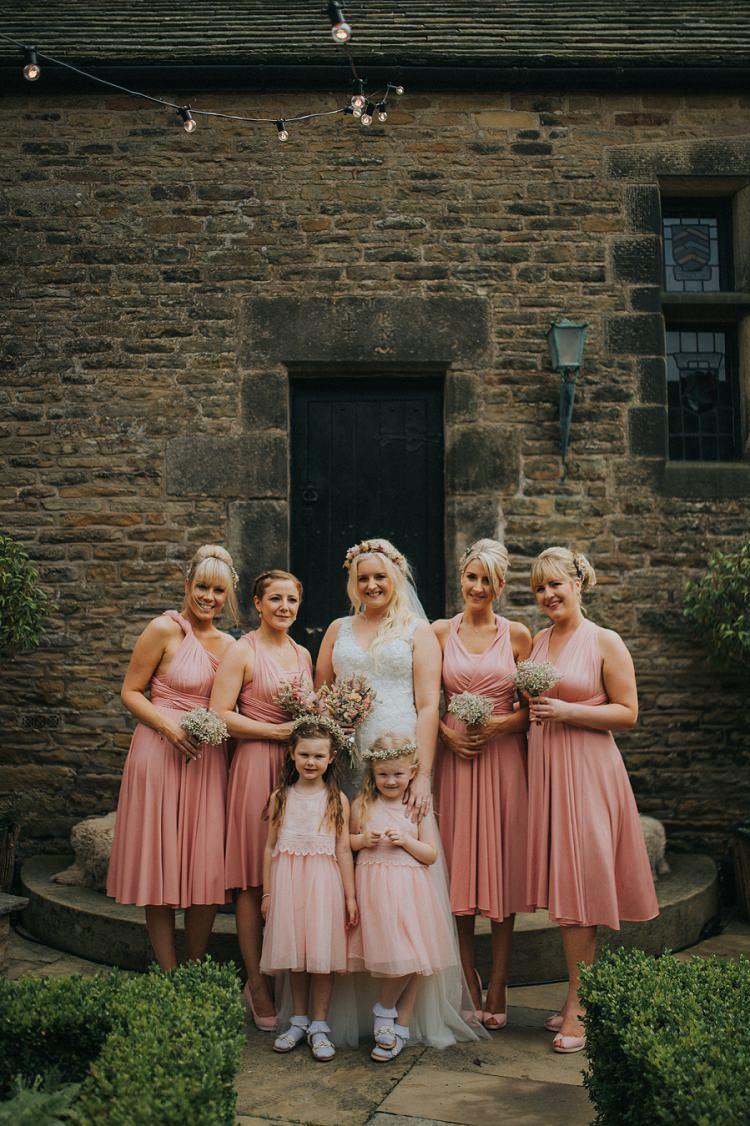 Pink Multiway Bridesmaid Dresses Short Enchanting Woodland Boho Wedding http://www.kerrydiamondphotography.com/