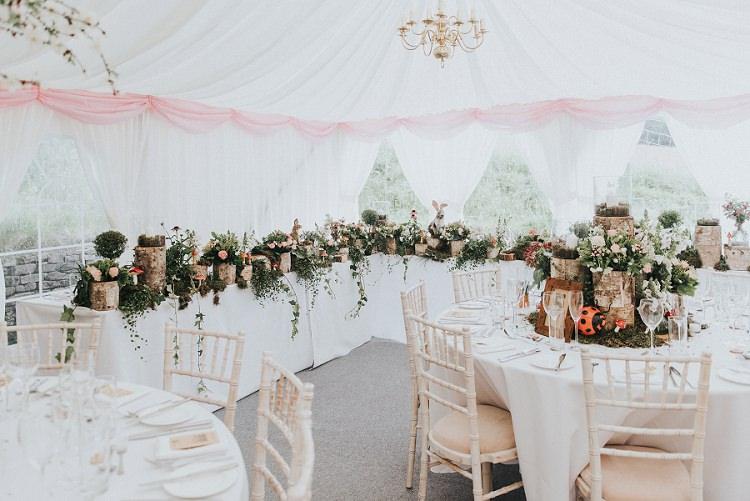 Marquee Decor Enchanting Woodland Boho Wedding http://www.kerrydiamondphotography.com/