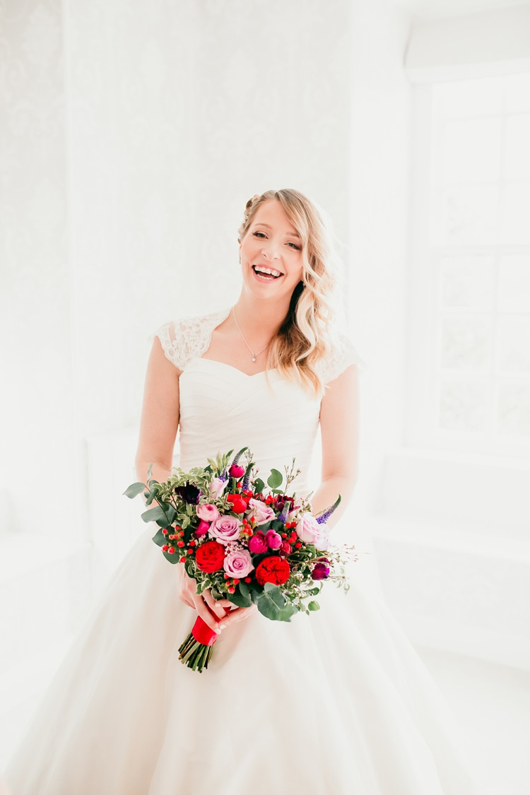 Bride Bridal Ivory & Co A-Line Dress Fun Colourful Modern Music Wedding http://hollycollingsphotography.com/
