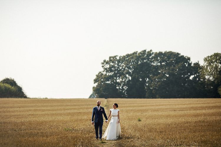 Bridal Seperates Top Skirt Karen Willis Holmes Bride Fun Multicolour Creative Barn Wedding http://www.mattparryphotography.co.uk/