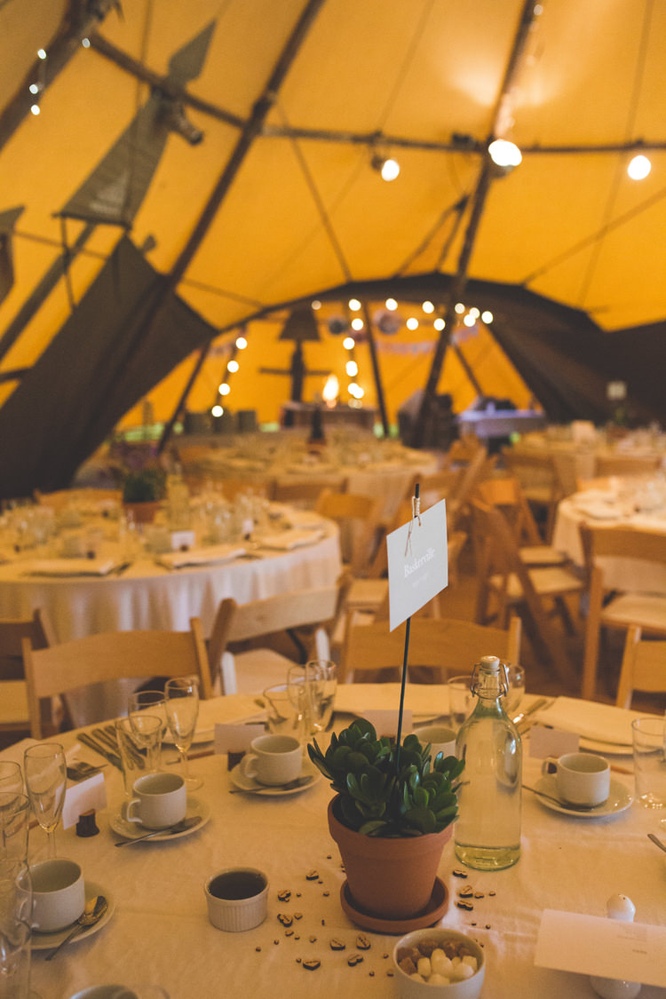 Tipi Decor Delightfully Natural Pretty Garden Wedding http://www.elliegracephotography.co.uk/