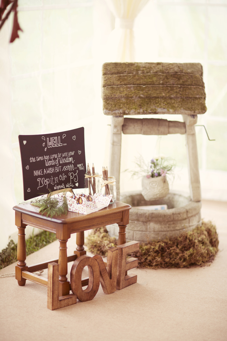 Wishing Well Guest Book Whimsical Woodland Autumn Wedding http://www.rebeccaweddingphotography.co.uk/