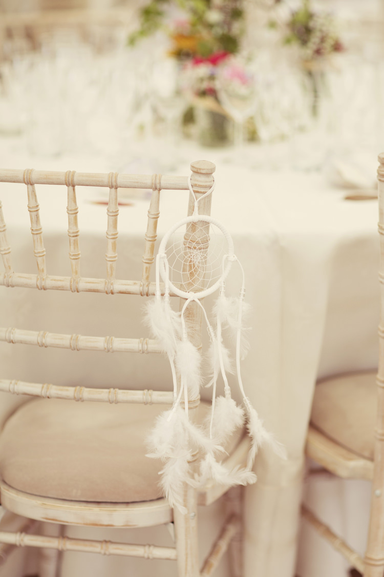 Dream Catcher Chair Decor Whimsical Woodland Autumn Wedding http://www.rebeccaweddingphotography.co.uk/