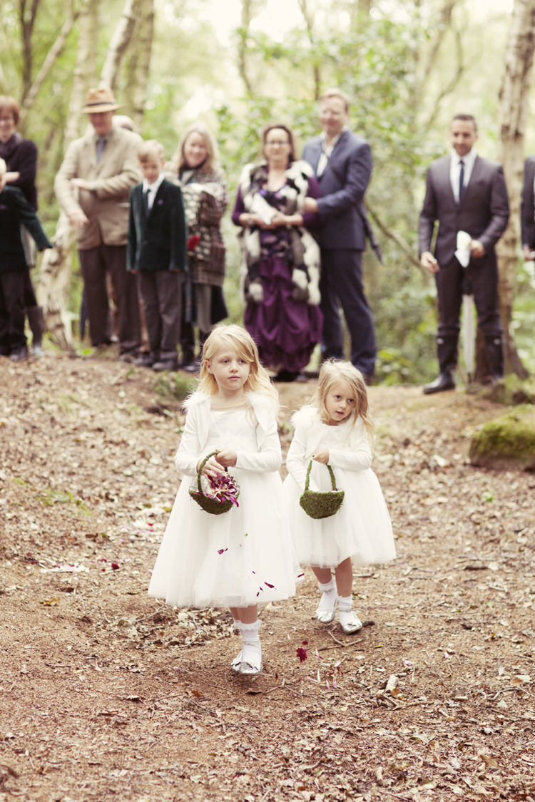 Flower Girls Petals Scatter Aisle Whimsical Woodland Autumn Wedding http://www.rebeccaweddingphotography.co.uk/