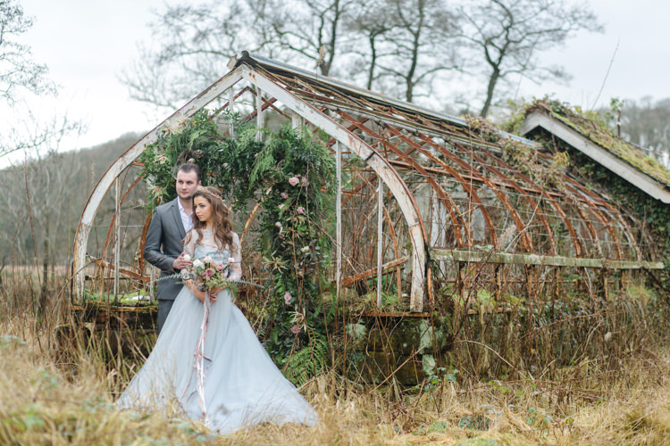 Botanical Beauty Abandoned Greenhouse Wedding Ideas https://www.thegibsonsphotography.co.uk/