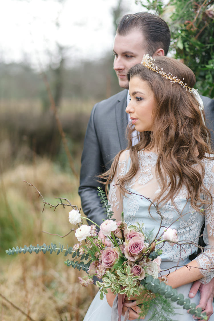 Long Waves Hair Bride Bridal Tousled Botanical Beauty Abandoned Greenhouse Wedding Ideas https://www.thegibsonsphotography.co.uk/
