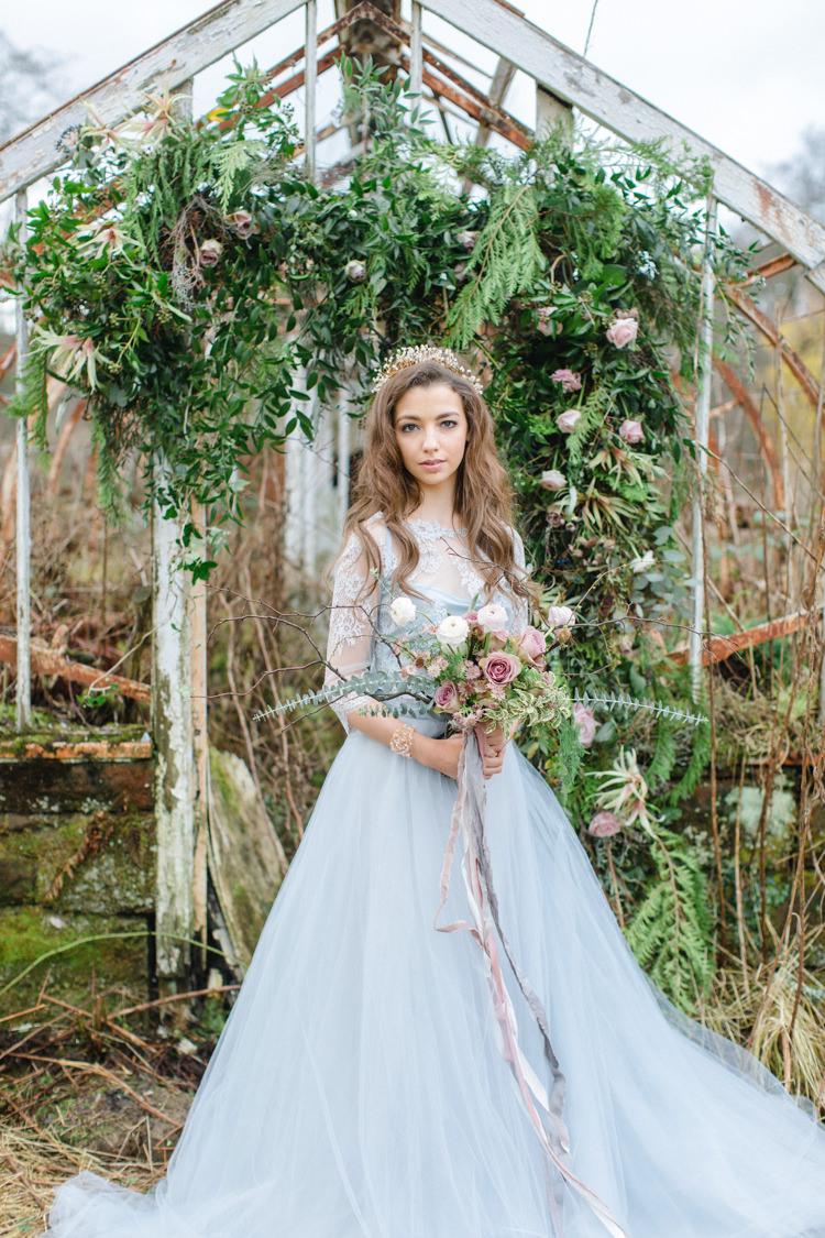 Botanical Beauty Abandoned Greenhouse Wedding Ideas https://www.thegibsonsphotography.co.uk/