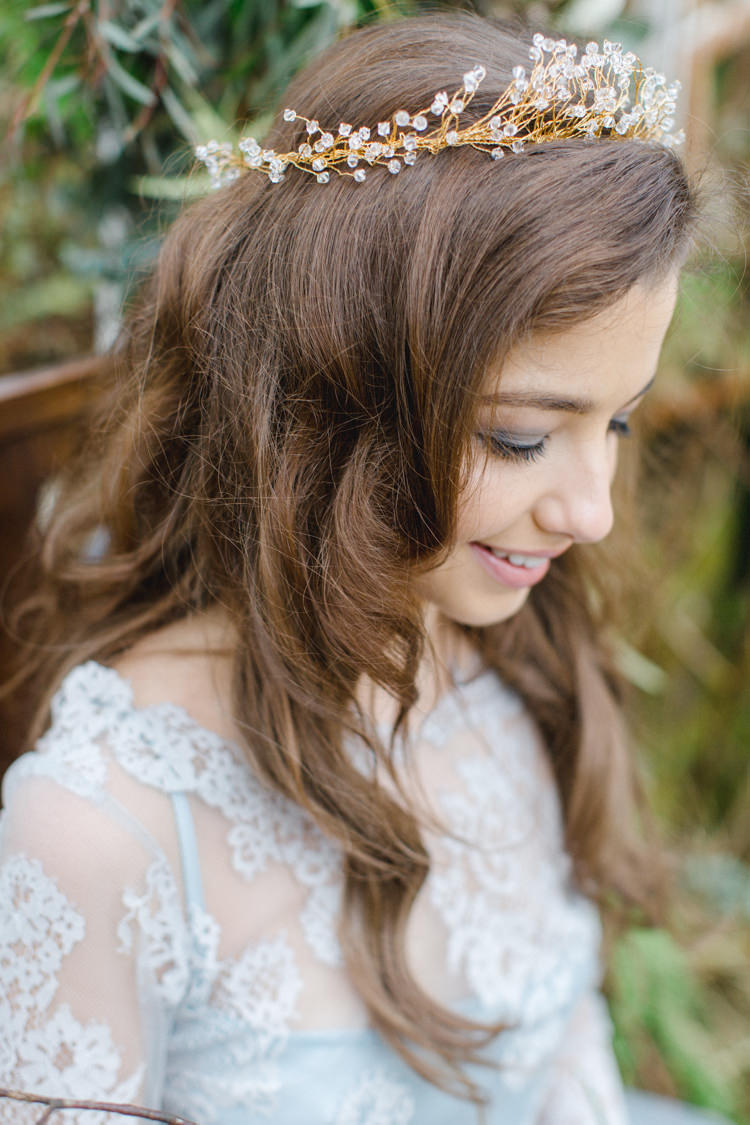 Hair Waves Tousled Long Bride Bridal Botanical Beauty Abandoned Greenhouse Wedding Ideas https://www.thegibsonsphotography.co.uk/